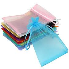 jewelry party favors 100pcs 3 9 x4 9 golden chagne eyelash organza drawstring