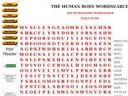 the human body word search 6th 8th grade worksheet lesson planet