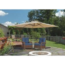 Patio Umbrellas Offset Outdoor Expressions 10 Ft Square Steel Offset Patio Umbrella