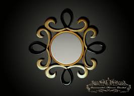 venice black and gold ornamental mirror from ornamental mirrors