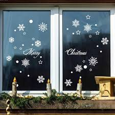 popular snowflakes wallpaper buy cheap snowflakes wallpaper lots christmas white snow wall sticker window glass wall stickers new year home decoration snowflakes wallpaper new