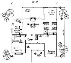traditional style house plan 2 beds 2 baths 1275 sq ft plan 50