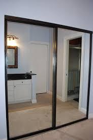 Closet Mirror Door Amusing Lowes Mirrored Closet Doors 39 For Your Interior Within