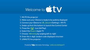 screencasting using apple tv ubit university at buffalo