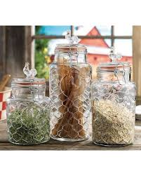 Glass Kitchen Canister Sets Fall Sale Home Essentials Glass Rooster Kitchen Canister Set 3