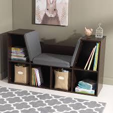amazon com kidkraft bookcase with reading nook toy espresso
