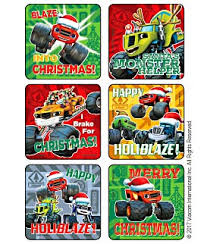 christmas stickers blaze the machines christmas stickers kids
