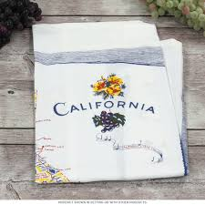 California State Map by Map Of California State Souvenir Dish Towel Souvenir Kitchen