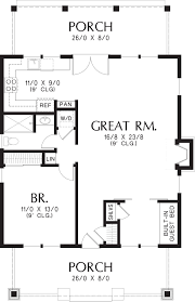 bungalow style house plan 1 beds 1 00 baths 960 sq ft plan 48