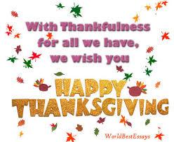 thanksgiving wishes world best essays