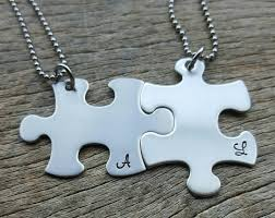 stainless steel puzzle necklace images Ships next day one27 designs hand stamped jewelry jpg