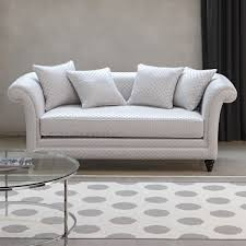 Traditional Sofa  Fabric  Seater  White VISCONTI By Coralie - Traditional sofa designs