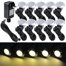 Solar Led Light Kit by 10pcs Led Deck Light Bulbs Yard Garden Patio Stairs Landscape