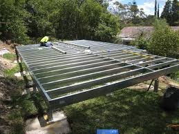 granny flat floor frame spantec boxspan steel bearer and joist