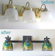 creatively peacock bathroom