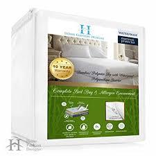 home design waterproof mattress pad amazon com renatta collection premium waterproof hypoallergenic