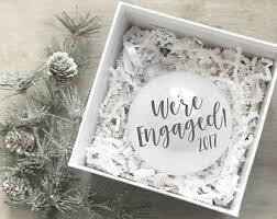 engaged ornament etsy
