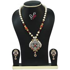 trendy necklace sets images Traditional and trendy pearl necklace sets in rubies jpg