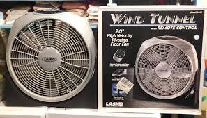 high velocity box fan lasko wind tunnel box fan with remote control in original box twc