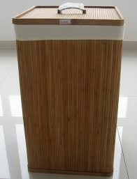 laundry hamper furniture modern solid bamboo wooden clothes hampers with lids design