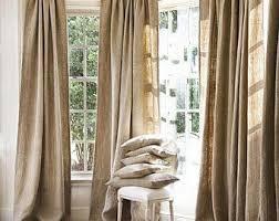 Burlap Looking Curtains Burlap Drapes Etsy