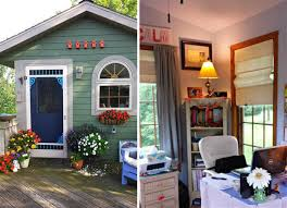 she shed wife builds her own she shed in the catskills mountains 6sqft