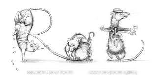 the rat race spelt in rats of course u2013 art by nancy farmer