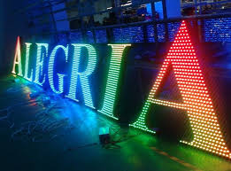 metal led lighted sign letters for outdoor advertising decoration