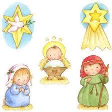 imagenes de virgen maria infantiles pesebre recortable para niños la virgen maría san josé y el niño