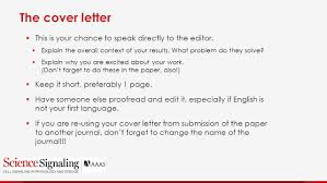 Journal Submission Cover Letter 100 Science Cover Letter The Cover Letter Door Opener Par