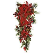 Silk Flower Centerpieces Poinsettia Teardrop Silk Flower Arrangement Free Shipping Today