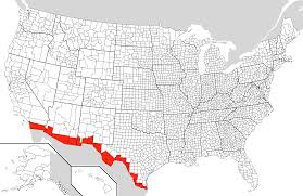 Map Of The United States And Mexico by Mexico U2013united States Border Wikiwand