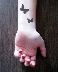 3pcs butterfly inknart temporary wrist by inknart