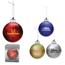 custom imprinted light up glass ornaments promotions