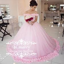 cinderella wedding dresses pink 3d floral cinderella wedding dresses 2017 gown