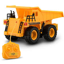 amazon com toydaloo remote control toy construction dump truck