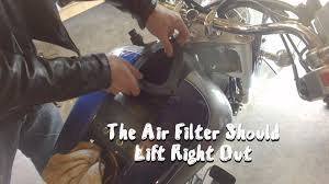 how to replace remove k u0026n air filter suzuki vl1500 and boulevard