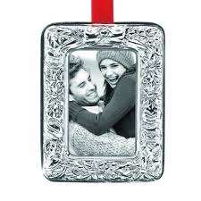 reed barton poinsettia sterling silver picture frame ornament