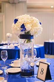 Blue Vases For Wedding Anchor Fake Flowers With Marbles Stones In The Bottom Of A Glass