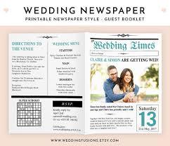 newspaper wedding programs wedding newspaper program wedding newspaper wedding program