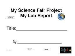 science fair report template science fair template science fair project report template