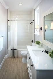 subway tile bathroom floor ideas wood bathroom flooring guest bathroom with wood grain tile floor