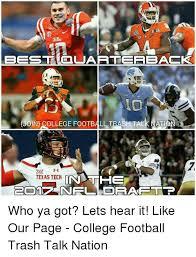 Texas Tech Memes - 2016 best coluarterbacko joine college football trash talk ati