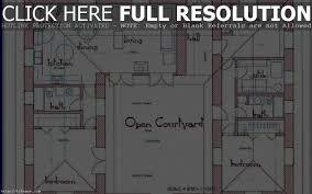 home design courtyard u shaped house pla hahnow