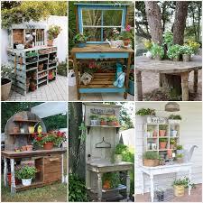 Garden Potting Bench Ideas 27 Wonderful Potting Bench Ideas For Your Garden