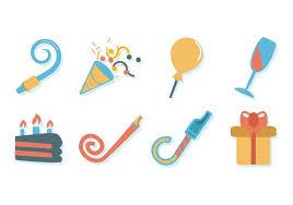 birthday stuff free birthday stuff icons vector free vector stock
