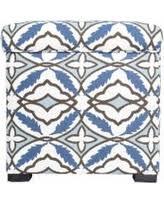 Ikat Storage Ottoman Bargains On Slate Blue Ikat Storage Ottoman
