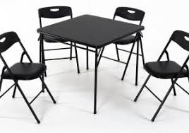 cosco 5 piece card table set black daily cheapskate cosco 5 piece folding card table and chair set