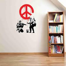 wall stickers how to apply todosobreelamor info wall stickers how to apply peace propaganda banksy wall decal sticker style and apply
