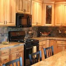 Countertop Backsplash Combinations by What Countertops Go With Hickory Cabinets Google Search